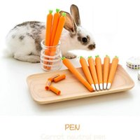 Gel Pens 1 PCS Creative Cute Black Refill Neutral Pen Stationery Personalized Signature Student Carrot Water-Based