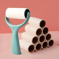 Stand Up Lint Rollers Hair Fole Sweater Removedor de poeira Escova para limpeza Roupas Eletrostatic Roller HWF9786