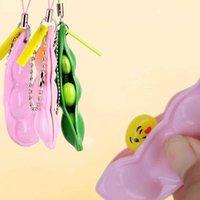 Love Surprise Bubble Decompression Toy Phone Straps Squeeze Extrusion Bean Lover Keychains Pendant Unlimited Squeeze Soybeans G6321QO