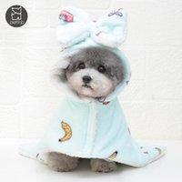 Vestuário cão animais de estimação pijamas saco de dormir gogo aumentar a roupa de cachorrinho quente
