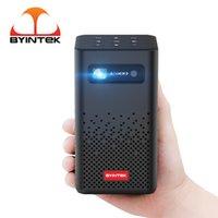 Byintek P20 Mini Travel PhiP Pico Smart Android WiFi 1080p TV LED Proyector DLP con batería para teléfonos inteligentes móviles 4K cine