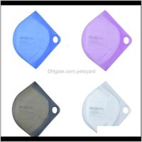 Bins Housekeeping Organization Home & Gardenface Masks Reusable Respirator Sile Storage Round Hole Organizer Boxes Mascarilla Folder Case Po