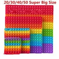 20 30 40 50cm Super Big Size Popit Push Bubble Toys Fidget Toys Stress Reliever Simple Dimple Anxiety Sensory Adult Kids Toys
