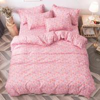 Set di biancheria da letto Arrivati Set Summer Romantico Pink Style Duvet Cover Duvet + foglio piatto + federa