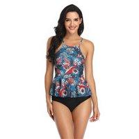 Women's Swimwear Classic Swimsuit Separate 2 Piece Set Flower Print Brazilian Bikinis 2021 Women Push Up Summer Beach Dress Beachwear