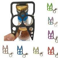 자기 방어 다기능 정신 고양이 고양이 자동차 키 체인 병 오프너 크리 에이 티브 렌치 깨진 창 열쇠 고리 패션 핸드백 키 체인 안전 열쇠 고리 HH21-411