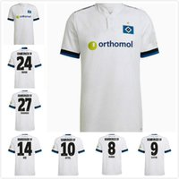 2021 2022 Hamburger SV Soccer Jerseys Home White 21 22 HSV Männer Kinder Uniformen Hommes définit les chemises de football uniformes 2xl