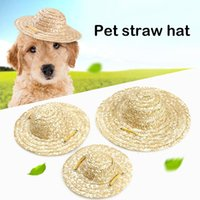 Dog Apparel Pet Handcrafted Woven Sun Hat Cat Straw Small Outdoor Accessories Hiking Products Small Large Dogs Hats Cap