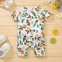 Jumpsuits Baby Clothes Born Romper Summer Girls Boy One Piece Short Sleeve Fashion Fruit Printing Girl Leisure Rompers