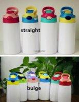 Bottiglia d'acqua a sublimazione Bicchiere dritto in acciaio inox sippy tazza 350ml tazze di paglia alta qualità per bambini fai da te 12 once