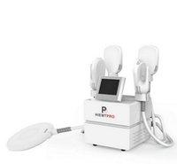 4 poignées HIEMT EMS Body Sculptant Stimulateur musculateur Emslim Machine Teslascult Body Forme de corps avec coussin de siège de muscle de plancher pelvien