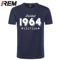 1964 Edition limitée Gold Design T-shirt noir pour hommes Cool Casual Pride T-shirt Hommes Unisexe Nouveau Mode Tshirt