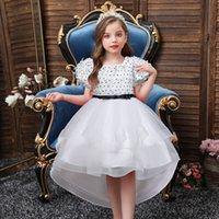 flower girl dress children tutu princess dress high quality wedding party girls ball gown Dovetail skirt