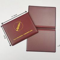 CDC PU Leather Vaccination Card Cover Certificate Files for 4*3inch Vaccinated Cards Case Holder Record-card Protector Protective DWD7645