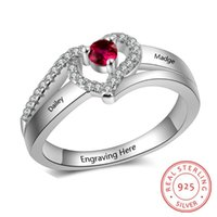 Cluster Rings Personalized 925 Sterling Silver For Women Engraved Name Custom Birthstone Fine Jewelry Wedding Anniversary Gift