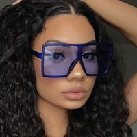 Sunglasses Large Square Vintage Women's High Quality Oversize by Man Black of Famous Female Fashion