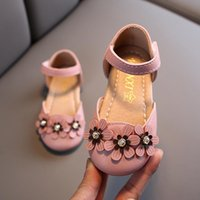 Sandals Baby Girls Floral Toddlers Half With Flowers Pearls Princess Dress Shoes For Party