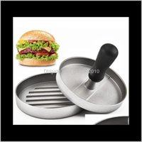 Kitchen, Dining Bar Home & Garden Drop Delivery 2021 Compactor Multi-Function Aluminum Die Casting Meat Press Creative Hamburger Patty Mold K