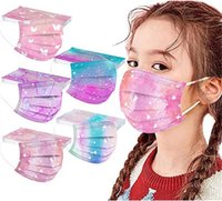 wholesale Disposable 3 layers Kids fashion mask  cute cat star Designer children Face Masks Non-Woven Anti-Dust top quality