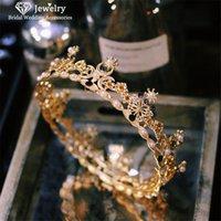 Clips para el cabello Barrettes Tiaras y coronas Hairbands Diadema Estilo barroco Accesorios de boda para mujeres Bridal Hairwear Party Jewelry HG4