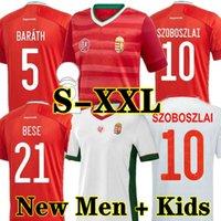 2021 Hongrie Soccer Jerseys Équipe nationale Accueil Rouge Dominik Szoboszlai Puskás Willi Orban Tamás Kadar 2022 Chemises de football Enfort