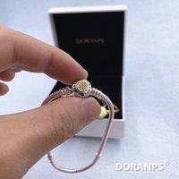 Original Doranps Designer Jewelry 925 Bracciale Bracciale perline Charm Snake Catena Argento Bangles per le donne Braccialetto di amicizia FAI DA TE