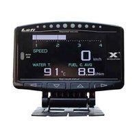 LUFI X1 OBD2プラグデジタルターボブースト圧力温度ゲージカーAFR RPM燃料スピードオイルメーター英語版