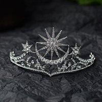 Hair Clips & Barrettes Baroque Star Crown Crystal Bridal Tiaras Rhinestone Pageant Diadem Bride Headdress Wedding Accessories Tiara De Noiva