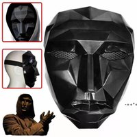 TV Squid Game Masked Man Masks Round Squire Triangle Mask Accessories Delicate Halloween Masquerade Costume Party RRD11039