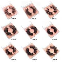 Mink Eyelashes 25mm Lashes Fluffy Messy 3D False Eyelashes Dramatic Long Natural Lashes Makeup Mink Lashes with square box