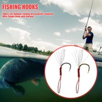 10pcs set Durable Fishhooks Multi-function Portable Sea Fishing Gears Coloured Wire Single Hook With Sharp Barbed Hooks