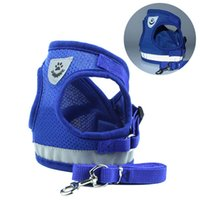 The latest pet chest and back with pet clothes dog clothes, vest-style dog leash reflective dog rope Handbag