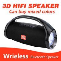 TG136 니스 사운드 붐 박스 블루투스 스피커 3D HIFI 서브 우퍼 핸즈프리 야외 휴대용 스테레오 서브 우퍼 소매 상자
