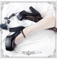Plus Größe 43 Top Qualität Sommer Schwarz Gotik Stil Lolita Block High-Heeled Platform Pumps Party Mary Janes Schuhe Frauen Kleid