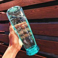 Cam Su Şişeleri Moda Seyahat Kupa Spor Su Şişesi Kamp Yürüyüş Su Isıtıcısı İçecek Kupası Elmas Hediye ZC186