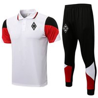 2021 2022 Borussia Futbol Mens Eşofmanlar Futbol Eğitimi Polo Gömlek Setleri Kitleri Koşu Takım Elbise Spor Yetişkin Kısa Kollu Polos ve Pantolon Tişörtü Sportwear