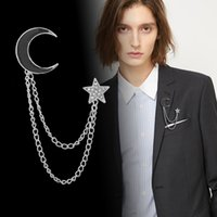 Brooch Luxury Designer Tassel Star Moon Gold Corsage Metal Lapel Pin Scarf Buckle Fashion Jewelry Men and Women Accessories