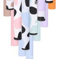 Papel de envoltura de papel Papel Packaging Giraffe Design Grieto impermeable Dos colores Floral Wrap 58x58cm 20 Shoets / Bag