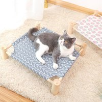 Cat Beds & Furniture Pine Wood Pet Hammock Litter Breathable Single Sale Sleeping Supplies