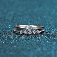 Vente en gros de bijoux fins de luxe de haute qualité réel 925 sterling argent sterling bagues doigts accessoires cadeaux de fiançailles de mariage