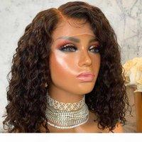 Rubia 13x4 Frente de encaje Pelucas para el cabello humano con pelo de bebé Remy Wavy Bleach Nudos 360 Frontal Rubia Rizado Rizado Pelucas de encaje completo