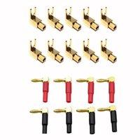 스마트 전원 플러그 10pcs 직각 스페이드 포크 바인딩 포스트 - 4mm 바나나 플러그 소켓 8pcs
