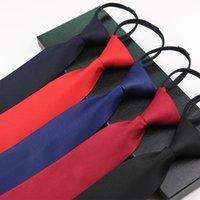 Cadre de fermeture à fermeture à glissière masculine Cadre d'affaires pour hommes Noir Noir Blue Blue Cravate paresseuse