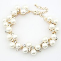 Female Braclets Design Luxurious Charm Crystal Cubic Zircon Simulated Pearl Beads Bracelet For Women Jewelry Bracelets