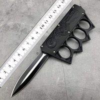 Açık Güvenlik Knuckle Bıçak Paslanmaz Çelik Alan Survival Taktik Saber Yüzük Bıçak Siyah Kenar EDC Aracı