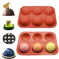 حماية البيئة جولة شكل كعكة العفن أداة الشوكولاته العفن الصغيرة ستة متتالية نصف دائري سيليكون كعكة العفن 8 الألوان المتاحة