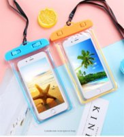 DHL New Noctilucent Waterproof bag PVC Protective Mobile Phone Bag Pouch cell phone case For Diving Swimming Sports OTE 7 free drop ship