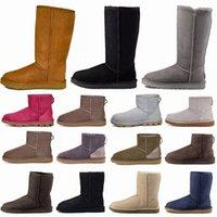 Дизайнерские классические WGG Boots Uggly Ugglis Shoes Bailey Uggs высокая кнопка триплет Австралия женские женские ботинки зима снег австралийские меховые пушистые банкунги