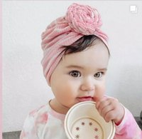 Newborn Baby Round Knot Turban Headbands Toddler Dounts Headband,Ribbed Bow Hats Babes Caps for Girls Hair Accessories