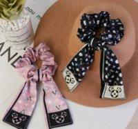 4 Styles Fashion Luxury Brand Design Letter Printing Elastic Headband Cloth Woven Large Intestine Hair Ring Headwear Ladies Jewelry Accessories